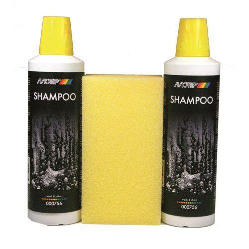 Autoshampoo 2x500 ml met spons MoTip