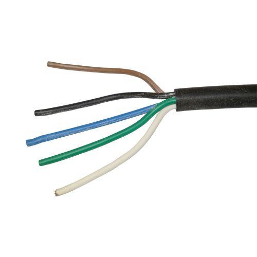 Verlichtingskabel 5 X 1,5 per meter