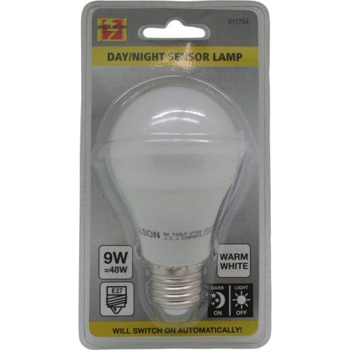 Led lamp E27 met dag/nacht sensor