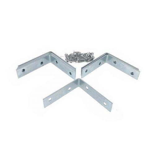 Stoelhoek 60x60x16 mm set van 8 stuks