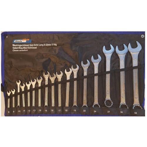 Ring-/steek sleutel set 8-32 mm 17-delig WorkPlus