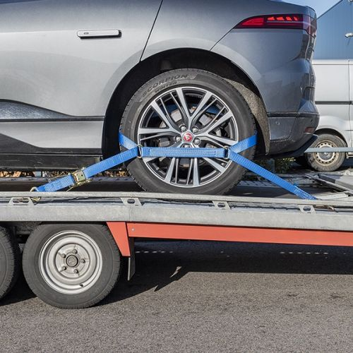 Spanband set voor autotransport