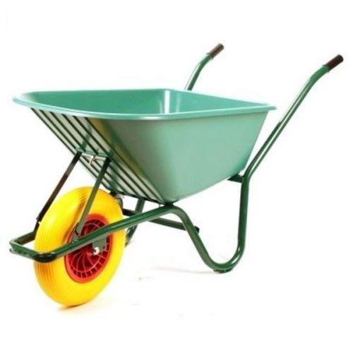 Kruiwagen 80 liter bak kunststof met anti-lekwiel