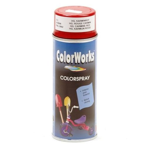 Colorworks RAL3000 rood 400 ml