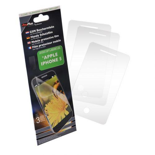 Display beschermfolie 3 stuks voor Apple Iphone 5 - Clear