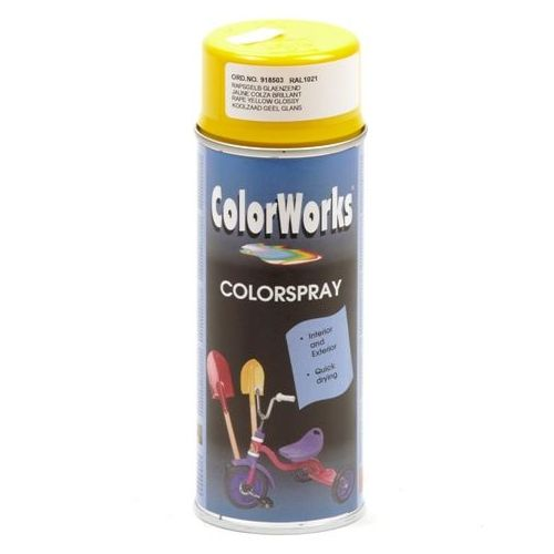 Colorworks RAL1021 geel zon 400 ml