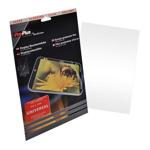 Display beschermfolie 1 stuk Universeel 25,6x17cm - Clear