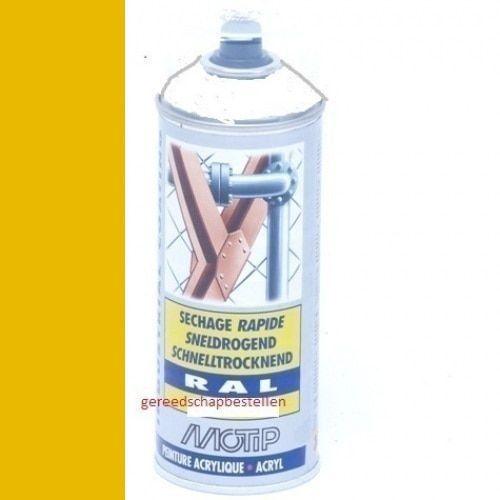 Verf spuitbus Industrial Lak RAL 1021 Motip 400 ml