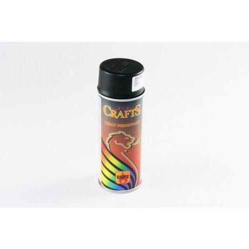 Verf spuitbus zwart hittebestendig 400 ml