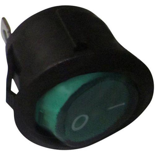 Schakelaar rond 20 mm aan/uit groen