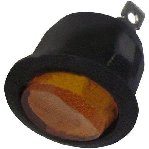 Schakelaar rond 20 mm aan/uit oranje