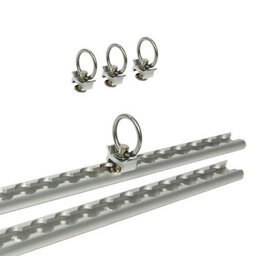 Bindrail set aluminium 2x60 cm