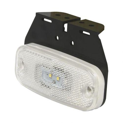 Markeringslamp 10-30V wit 110x45 mm LED met houder