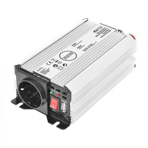 Omvormer/inverter 12V-230V 300W/600W + USB