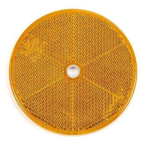 Reflector oranje rond 80 mm met schroefgat