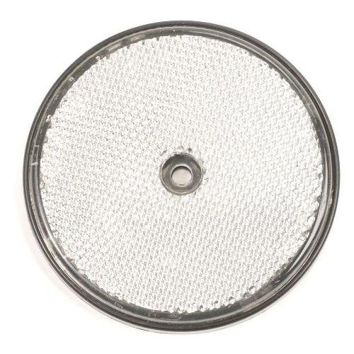 Reflector wit rond 80 mm met schroefgat