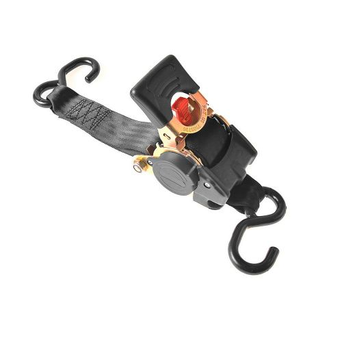Spanband met ratel + 2 haken 180 cm 750 kg automatisch oprollend