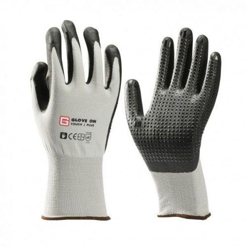 Handschoen nylon met nitrile genopt maat XL (10)