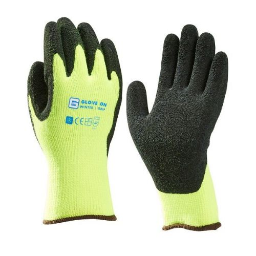 Handschoen wintergrip acryl latex maat L