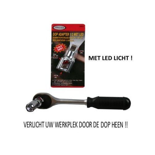 """Dop adapter 1/2"""" met Led licht"""