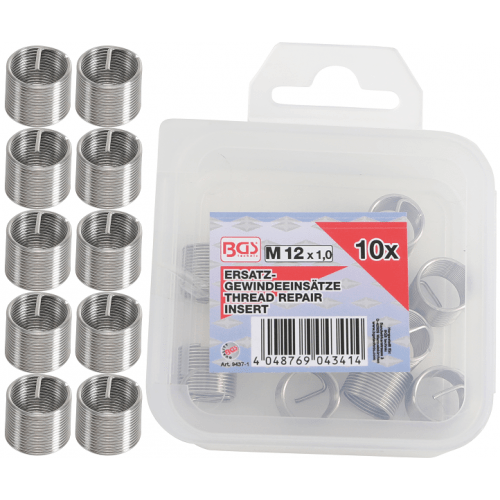 Helicoil set M12 x 1,0 10-delig