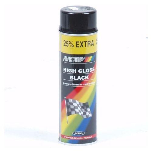 Zwart hoogglanslak Motip 500 ml