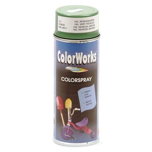 Colorworks RAL6011 reseda groen 400 ml