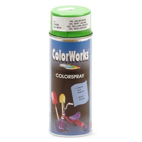 Colorworks RAL6018 geel/groen 400 ml