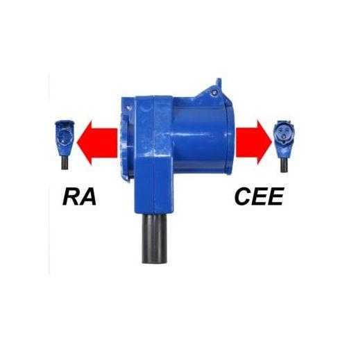 CEE Haakse Contrastekker Met Stopcontact