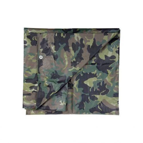 Afdekzeil 3,85 X 4,75 Meter Groene Camouflage Kleur