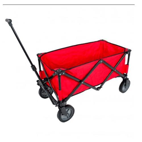 Bolderwagen opvouwbaar 90x53x170 cm