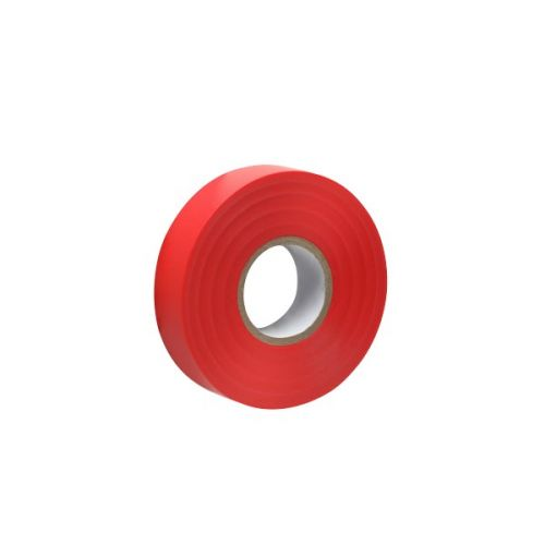 Isolatietape 19 mm rood per rol 20 mtr.
