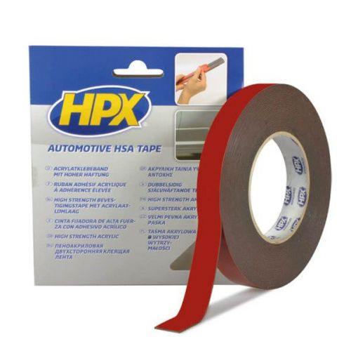 Dubbelzijdige acryltape 19 mm x 10 m HPX