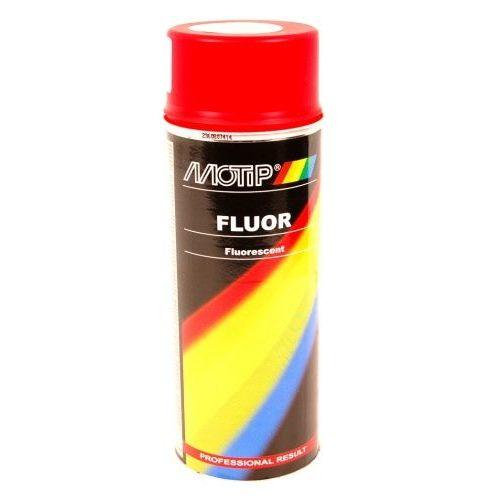 Fluorescerende lak rood-oranje Motip 400 ml