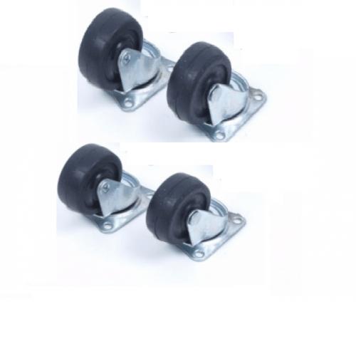 Zwenkwielen 40 mm per 4 zwart