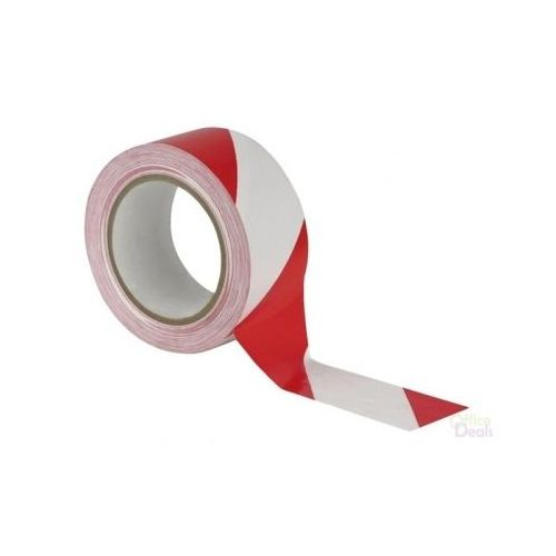Afzetlint rood/wit 75 mm x 50 meter