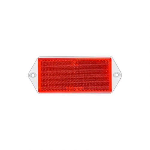 Reflector rood 125X50 mm schroef
