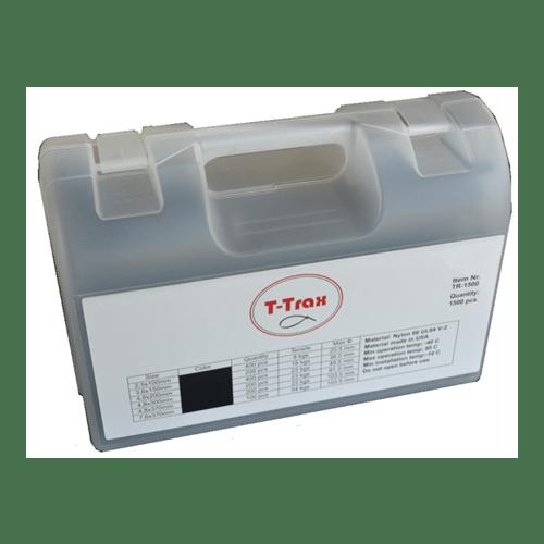Kabelbandjes/tie ribs assortiment box1500-delig T-Trax